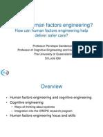 What is Human Factors Engineering?