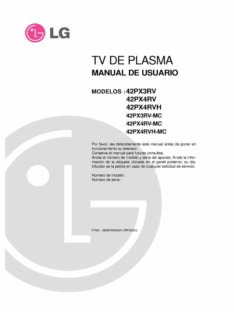 manual de usuario tv de plasma lg rh es scribd com manual plasma lg manual de servicio tv plasma lg