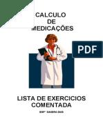 Medicações lista de exercícios comentada