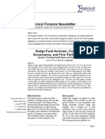 Empirical Finance Newsletter, September 2009 (plus Stock Screen Results)