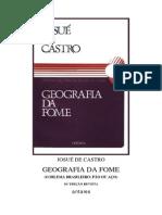 4.4 CASTRO, Josué de - Geografia da fome
