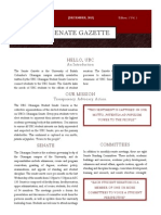 UBC Senate Gazette December 2013