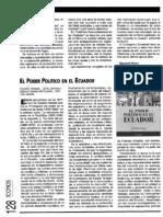 21. Reseñas bibliográficas. El poder político en el Ecuador. Juan Paz y Miño