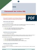 Classement des ordres SQL