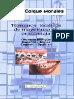 Términos Técnicos De Mayor Uso En Ortodoncia