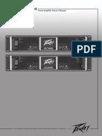 CS 1400-2000 Power Amplifier Owners Manual