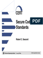 Cert Secure Coding Standards