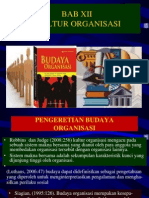 Bab 12 Budaya Organisasi
