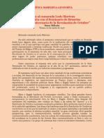 Milloshi - Carta a Ludo Martens Sobre El Seminario de Bruselas (1997)