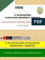 Enfoque Ambiental en El Sistema Educativo