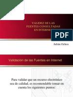 Validez Fuentes Internet