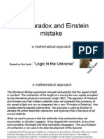 Twin Paradox and Einstein Mistake, a mathematical approach