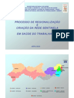 Mapas da regionalização por CEREST