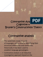 Contrastive Analysis, Cognitive & Bruner's Constructivist Theory