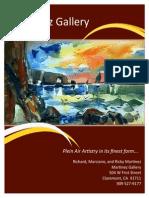 martinez gallery brochure