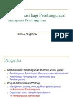 Administrasi Bagi Pembangunan Manajemen Pembangunan