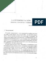 LECTURA 6 La Interpretacion Objetos, Conceptos y Teorias