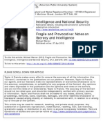 Fragile and Provocative - Notes on Secrecy and Intelligence