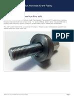 ASP Fix for 1st Run C35A Aluminum Crank Pulley