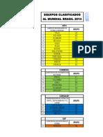 Mundial Brasil 2014 Excel Grupos