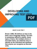 Language Testing_developing and Improving Test Item