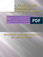 TEORÍA GENERAL DEL DESARROLLO PSICOLÓGICO DEL NIÑO