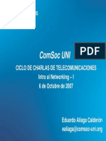 1ra Charla Comsoc UNI 20071006