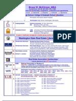 Bruce McKinnon's Education & Real Estate Licenses, Designations & Certifications