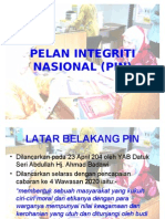 Pelan Integriti Nasional (Pin)