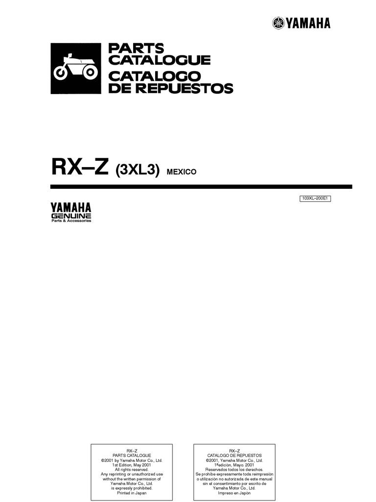 yamaha rx z 6 speed owner manual rh scribd com Yamaha RXZ Catalyzer yamaha rxz service manual
