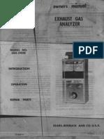 Sears Gas Analyzer User Guide
