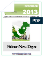 Pakistan News Digest December- 2013