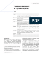 Health Effects of Exposure to Active Pharmaceutical Ingredients (APIs)