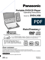 Panasonic Dvd-lv50 User Guide