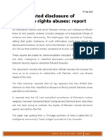 US Prevented Disclosure of Pakistan_s Rights Abuses - Report (3rd Sept 2013)