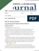 Duct System Design - Ashrae 2009 - Fundamentals (Si