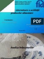 Moduri de determinare a acidității produselor alimentare