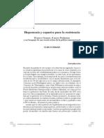 2.Brand Ulrich 2005.Hegemonía y espacios para la resistencia.El nuevo Gramsci, el nuevo Poulantzas y un bosquejo de una teoría crítica de la política internacional.