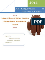Report on Android OS and Kitkat 4.4