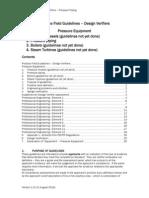 Guidelines Design Verifier Pressure Equipment