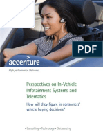 Accenture Perspectives on in Vehicle Infotainment Systems and Telematics