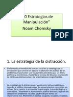 10 estrategias manipulación chomsky