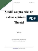 Studii Asupra Celei de a Doua Epistole Catre Timotei