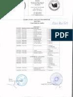 Romanian university 2013-2014 year structure
