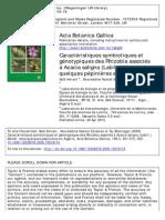 Caractéristiques symbiotiques et  génotypiques des Rhizobia associés  à Acacia saligna (Labili.) Wendl. dans  quelques pépinières en Algérie