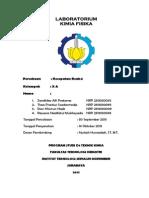 Laporan Praktikum Laboratorium Kimia Fisika Kecepatan Reaksi Zandhika Alfi Pratama