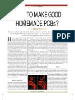 Homemade PCBs