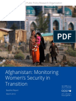 Afghanistan - Monitoring Women's Security in Transition - Baseline – March 2013