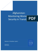 Afghanistan - Monitoring Women's Security in Transition - Cycle 2 – October 2013