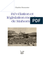 Charles Renouvier = Révélation et législation morale de Mahomet